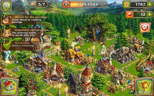 Screenshots of the Build a kingdom for Android tablet, phone.