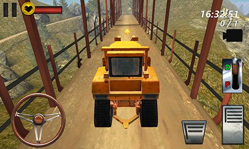 Bulldozer driving 3d: Hill mania screenshot 1