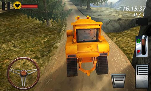 Bulldozer driving 3d: Hill mania screenshot 2