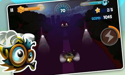 Screenshots of the Bumblebee Race for Android tablet, phone.