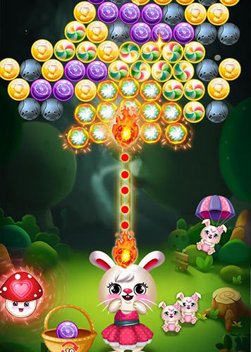 Bunny bubble shooter pop: Magic match 3 island скриншот 2