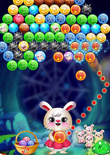 Bunny bubble shooter pop: Magic match 3 island картинка из игры 3