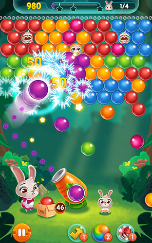 Screenshots of the Bunny pop for Android tablet, phone.