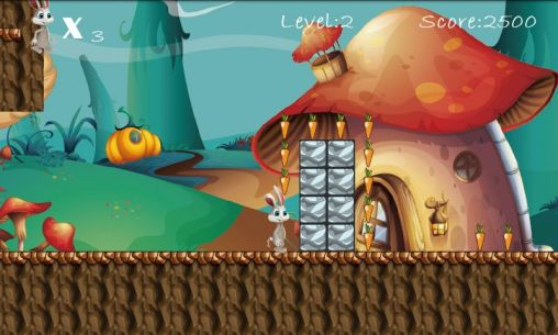 Screenshots von Bunny run by Roll games für Android-Tablet, Smartphone.