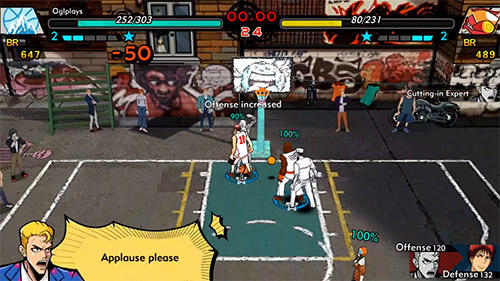 Гра Burning basketball на Android - повна версія.