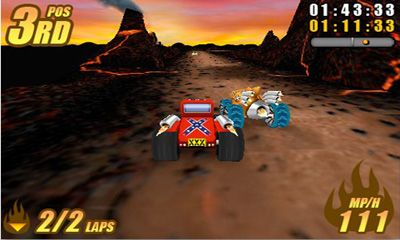 Screenshots of the Burning Tires for Android tablet, phone.