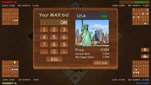 Screenshots von Businessman: Monopolist für Android-Tablet, Smartphone.