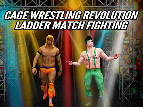Cage wrestling revolution: Ladder match fighting poster