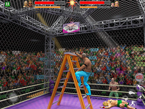 Cage wrestling revolution: Ladder match fighting screenshot 1