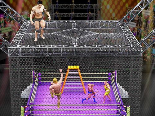 Cage wrestling revolution: Ladder match fighting screenshot 2