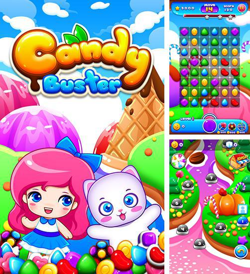 In addition to the game Balloony land for Android phones and tablets, you can also download Candy busters for free.