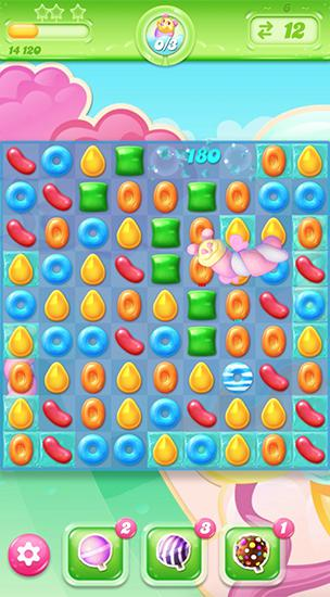 Kostenloses Android-Game Candy Crush: Jelly Saga. Vollversion der Android-apk-App Hirschjäger: Die Candy crush: Jelly saga für Tablets und Telefone.