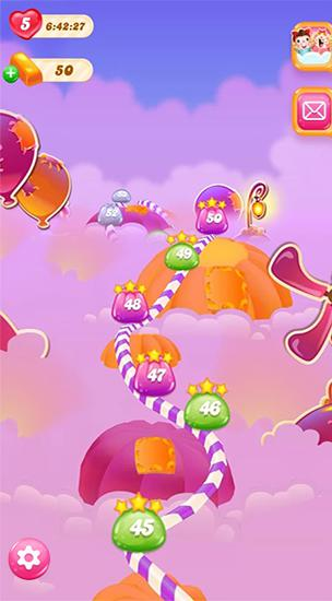 Screenshots von Candy crush: Jelly saga für Android-Tablet, Smartphone.