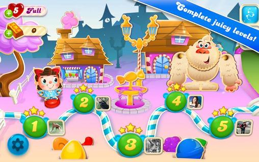 Candy crush: Soda saga screenshot 1
