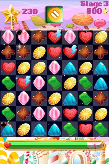 Candy gems and sweet jellies screenshot 2