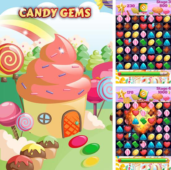 Candy gems and sweet jellies