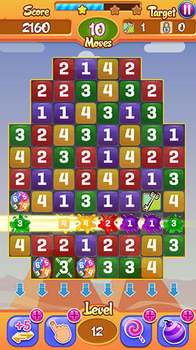Screenshots von Candy numbers match 3 für Android-Tablet, Smartphone.