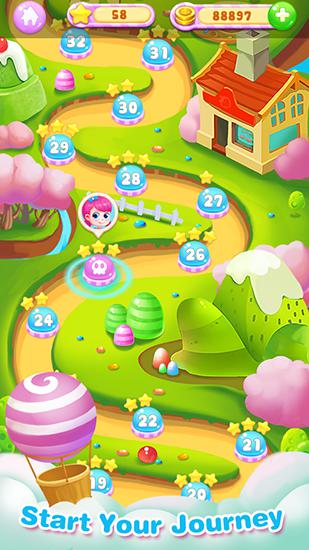 Screenshots do Candy story - Perigoso para tablet e celular Android.
