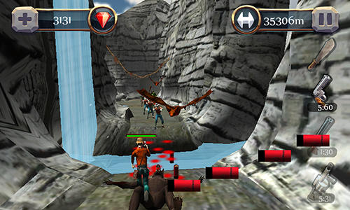 Screenshots von Canyon hunter: Run and shoot für Android-Tablet, Smartphone.