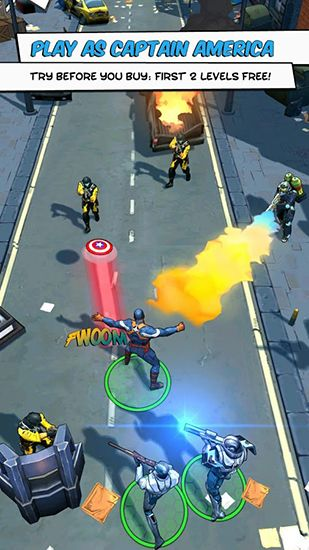 Kostenloses Android-Game Captain America: Soldat des Winters. Vollversion der Android-apk-App Hirschjäger: Die Captain America: The winter soldier für Tablets und Telefone.