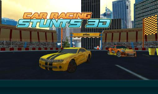 Car racing stunts 3D poster