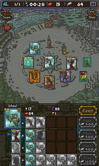 Capturas de pantalla de Card of legends: Random defense para tabletas y teléfonos Android.