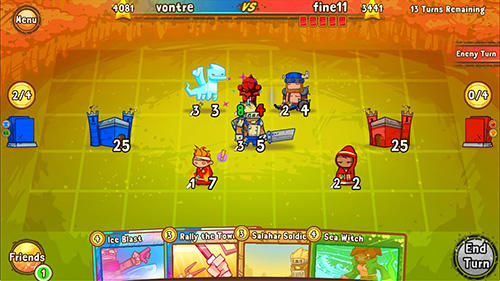 Screenshots von Cards and castles für Android-Tablet, Smartphone.