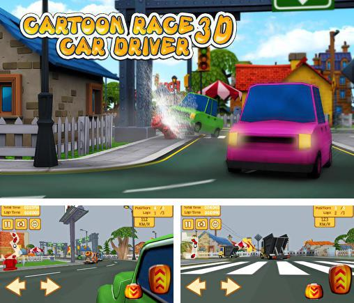 En plus du jeu Animaux-conducteurs  pour téléphones et tablettes Android, vous pouvez aussi télécharger gratuitement Course de cartoon 3D: Conducteur d'auto, Cartoon race 3D: Car driver.