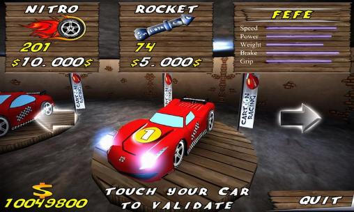 Kostenloses Android-Game Cartoon Rennen. Vollversion der Android-apk-App Hirschjäger: Die Cartoon racing für Tablets und Telefone.