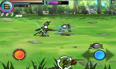 Screenshots of the Cartoon Wars: Blade for Android tablet, phone.