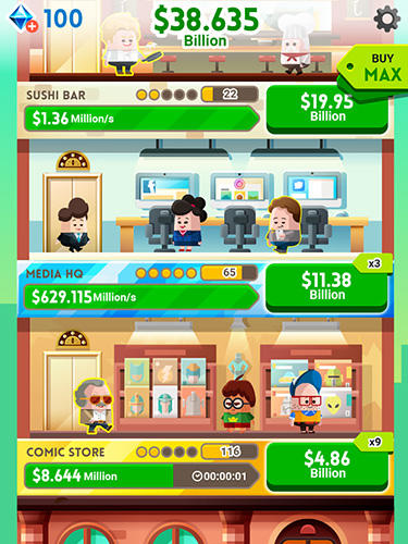 Screenshots von Cash, Inc. Fame and fortune game für Android-Tablet, Smartphone.
