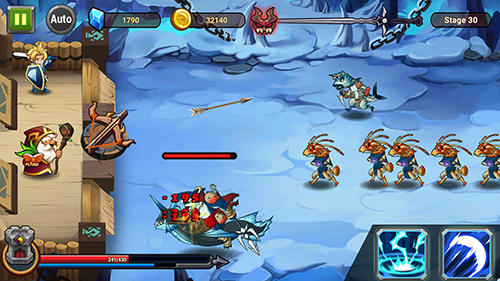 Screenshots do Castle defender: Hero shooter - Perigoso para tablet e celular Android.