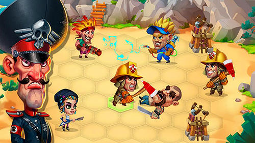 Jogue Casual heroes: Turn-based strategy para Android. Jogo Casual heroes: Turn-based strategy para download gratuito.
