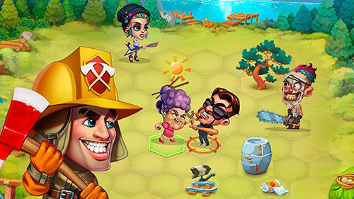 Screenshots do Casual heroes: Turn-based strategy - Perigoso para tablet e celular Android.