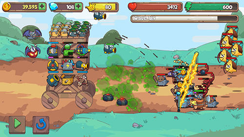 Screenshots von Cat'n'robot: Idle defense für Android-Tablet, Smartphone.