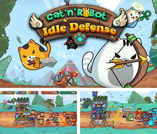 Cat'n'robot: Idle defense. Cute castle TD game