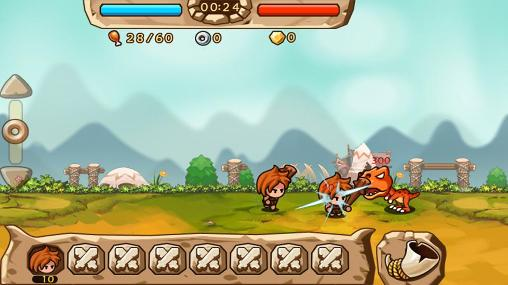 Caveman vs dino screenshot 2