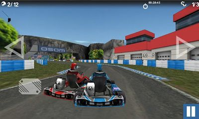 Screenshots of the Championship Karting 2012 for Android tablet, phone.