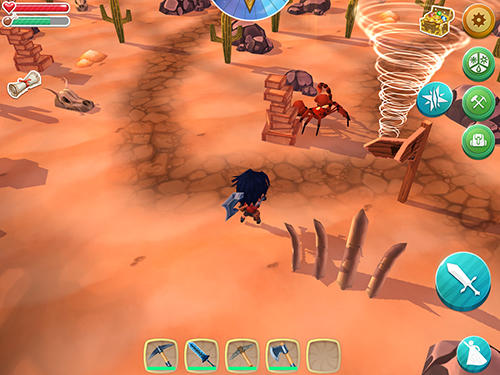 Screenshots von Chibi survivor: Weather lord. Survival island series für Android-Tablet, Smartphone.