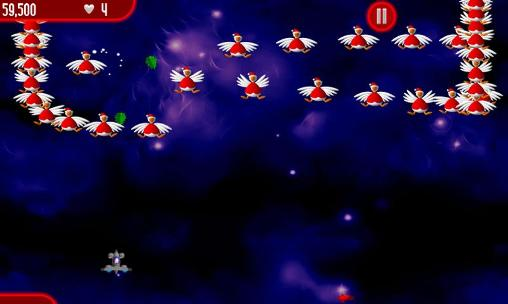 Chicken shoot: Xmas. Chicken invaders screenshot 1