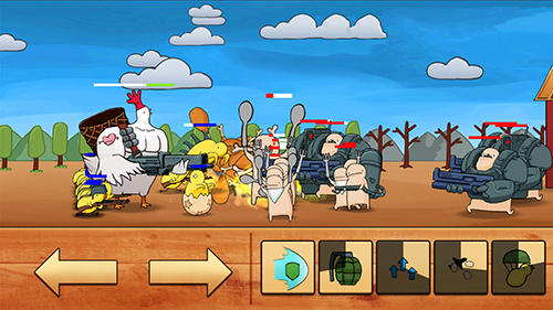 Screenshots von Chicken vs man für Android-Tablet, Smartphone.