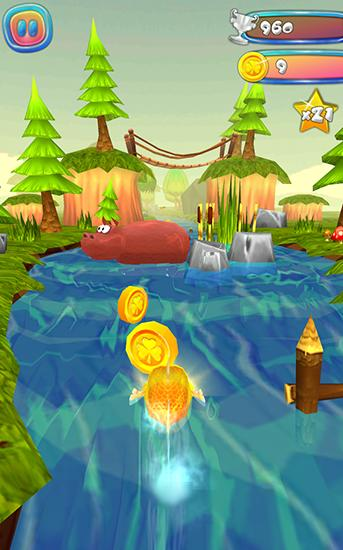 Choppy fish: 3D run скриншот 2