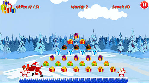 Screenshots von Christmas Santa run für Android-Tablet, Smartphone.
