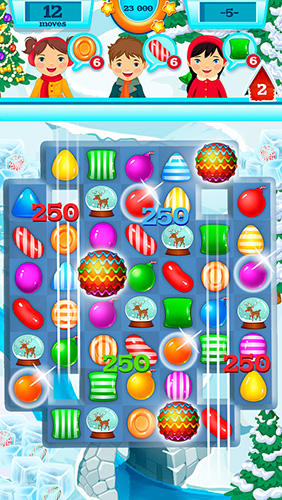 Jogue 3 Candy: Winter tale para Android. Jogo 3 Candy: Winter tale para download gratuito.