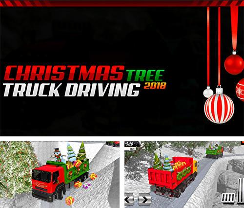 Christmas tree transporter truck