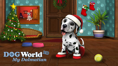 Christmas with dog world poster