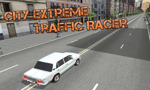 City extreme traffic racer poster