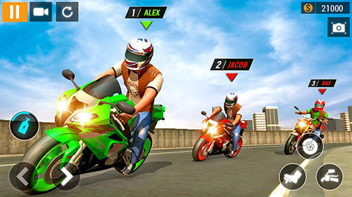 Screenshots von City motorbike racing für Android-Tablet, Smartphone.