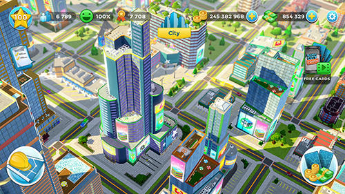 Capturas de pantalla de Citytopia: Build your dream city para tabletas y teléfonos Android.