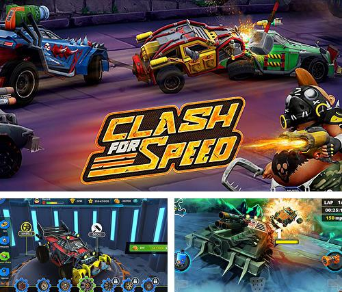Zusätzlich zum Spiel Gebaut zum Rasen 2 für Android-Telefone und Tablets können Sie auch kostenlos Clash for speed: Xtreme combat racing, Clash for Speed: Extremes Kampfrennen herunterladen.